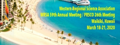 59th WRSA Conference & 26th PRSCO Conference | 18-21 March, 2020, Honolulu, Hawaii