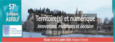 French Section: 57th colloquium of ASRDLF, July 2021, Avignon, France