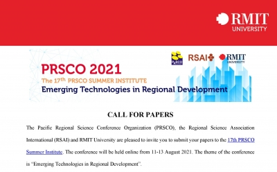 Call for paper | 17th PRSCO Summer Institute, 11-13 August 2021