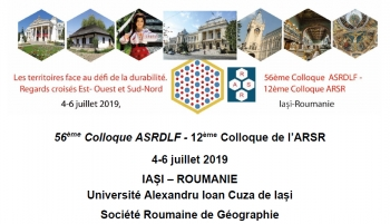 "French Speaking Section and Romanian Section Conference, 4-6 July 2019, ""Al.I. Cuza"" University of Iasi, Romania"