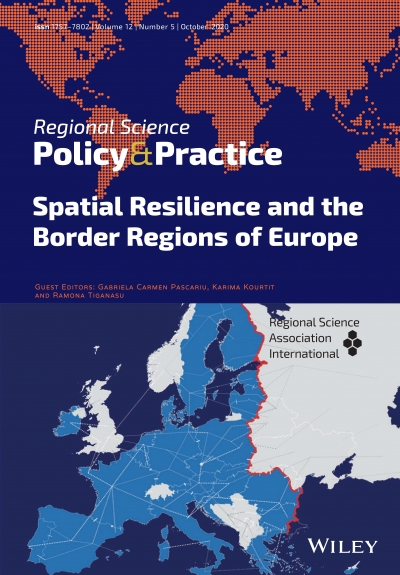 The latest issue of Regional Science Policy & Practice are available! Volume 12, Issue 5, Special Issue: Spatial Resilience and the Border Regions of Europe, Pages: 747-976, October 2020