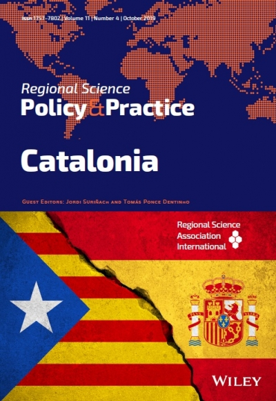 The latest issue of Regional Science Policy & Practice are available! Volume 11, Issue 5, Special Issue: Catalonia, Pages 757-876, November 2019