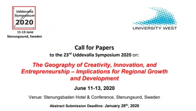 CALL FOR PAPERS 23rd Uddevalla Symposium 2020 - June 11-13