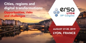59th ERSA Congress | 27-30 August 2019, Lyon, France