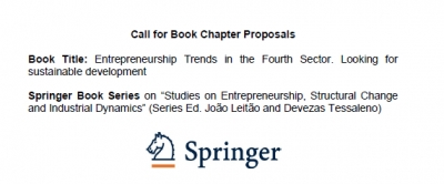 Call for Book Chapter Proposals - Entrepreneurship Trends in the Fourth Sector. Looking for sustainable development