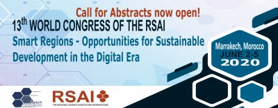 NEW DEADLINE (21 January 2020) Call for Abstracts and Special Session Proposals for RSAI Congress 2020