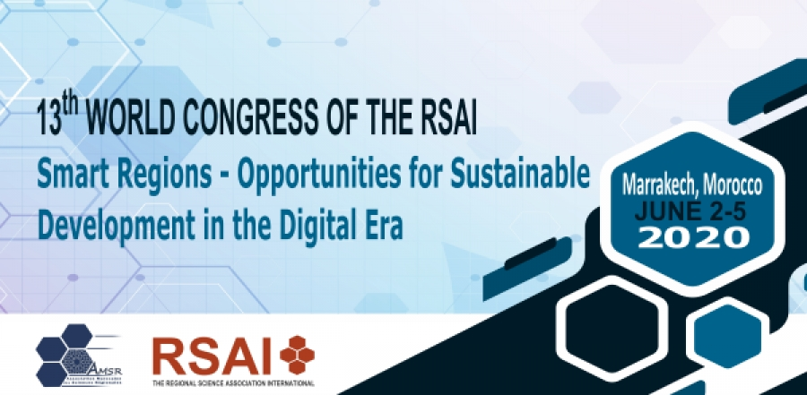 Regional Science - Save the Date! 2020 RSAI World Conference